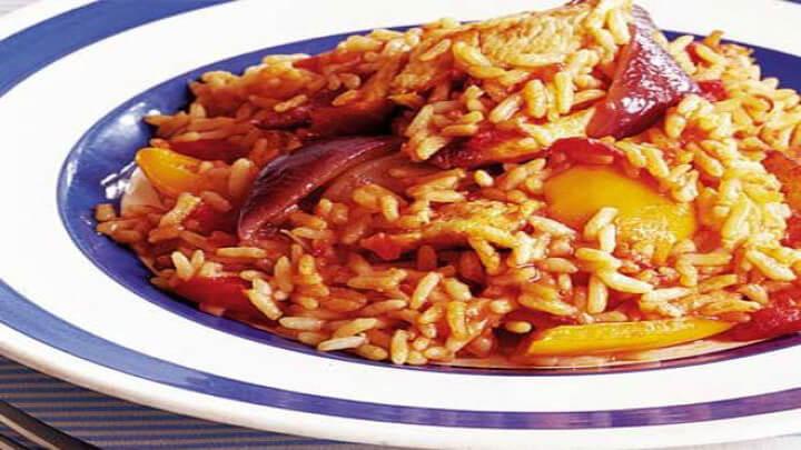 Пиле с ориз по италиански